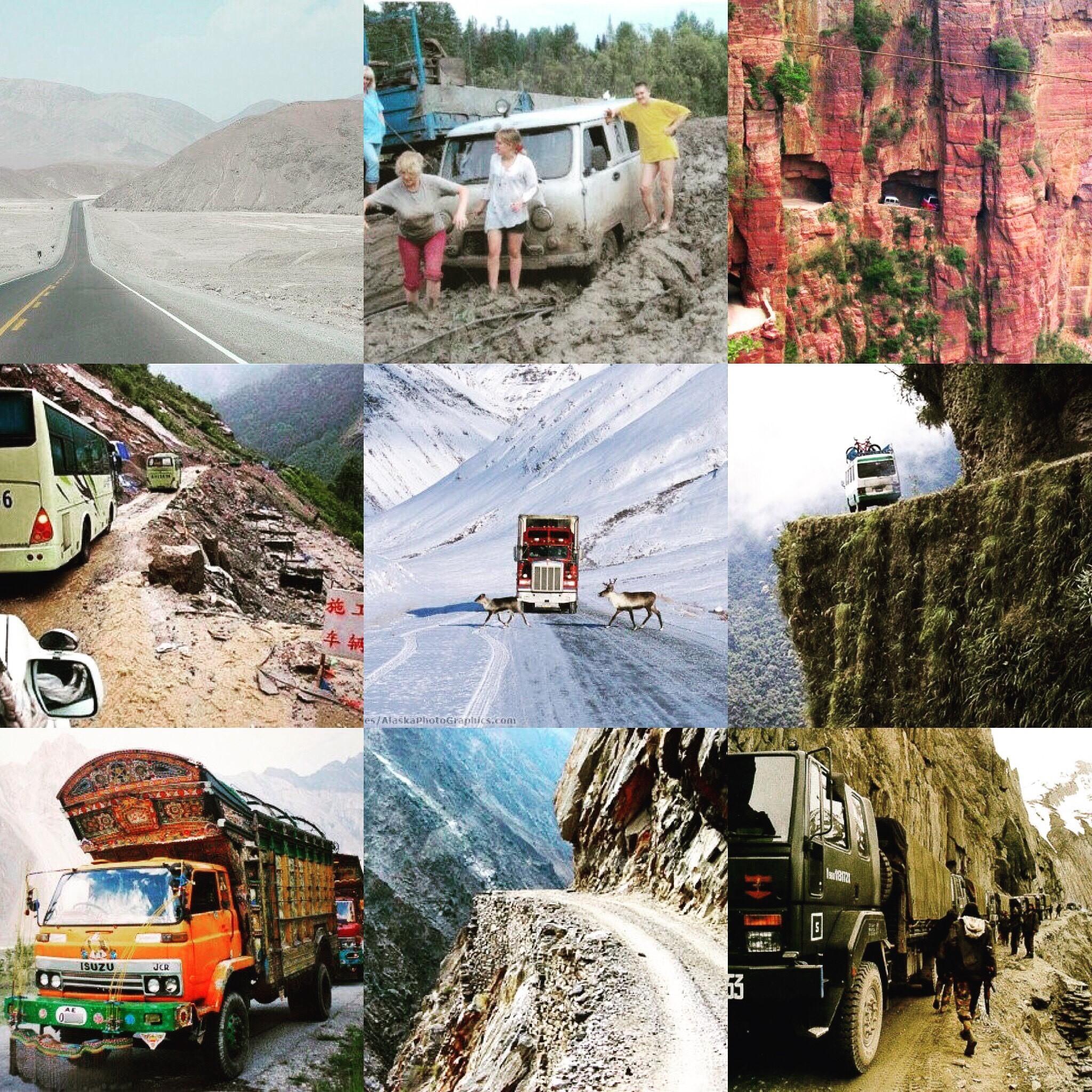 מסע אל 9 הכבישים המסוכנים בעולם
